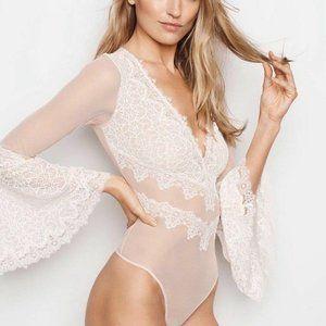 VS Dream Angels boho bodysuit chantilly lace